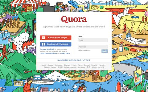 Quora - A place to share knowledge and better understand the world.
