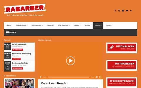 Screenshot of Blog rabarber.net - Nieuws – Rabarber - captured Oct. 13, 2018
