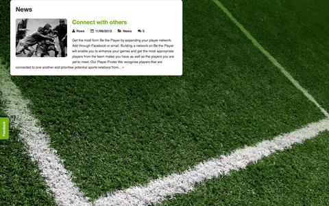 Screenshot of Press Page betheplayer.com - News Archives - Be The Player - captured Sept. 30, 2014