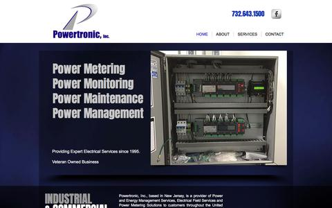 Screenshot of Home Page powertronic.com - Powertronic, Inc. Power-Energy-Electric Services - captured Aug. 18, 2017