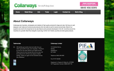 Screenshot of About Page collarways.com - About - Collarways - captured Sept. 30, 2014