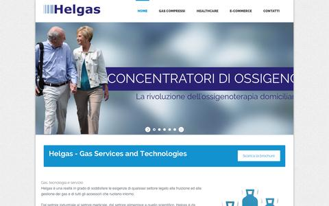 Screenshot of Home Page helgas.it - Gas Services and Technologies   Helgas - captured Sept. 29, 2014