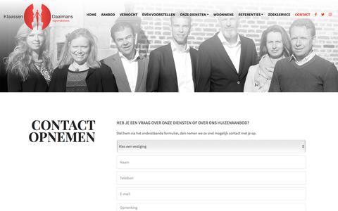 Screenshot of Contact Page kd-makelaars.nl - Contact opnemen - captured Oct. 17, 2017
