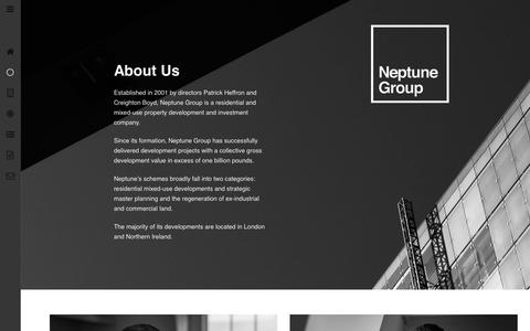 Screenshot of About Page neptunegroup.com - Neptune Group - About Us - captured March 11, 2016
