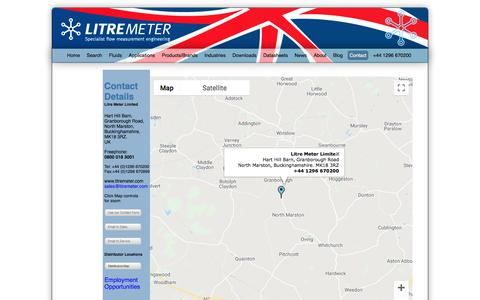 Screenshot of Contact Page litremeter.com - Litre Meter Limited - captured Sept. 24, 2018