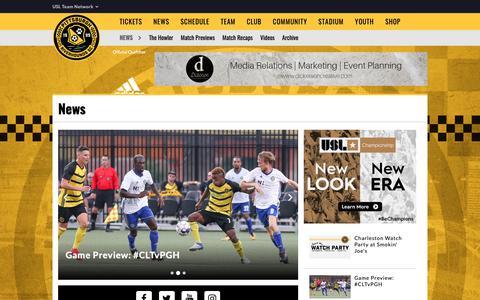 Screenshot of Press Page riverhounds.com - News - captured Sept. 28, 2018