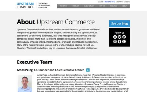 Screenshot of About Page upstreamcommerce.com - About | UpstreamCommerce - captured Sept. 17, 2014