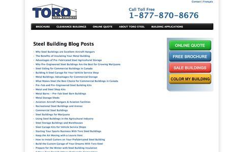 Screenshot of Blog torosteelbuildings.com - Information About Steel Buildings & Other Accessories - captured July 11, 2019