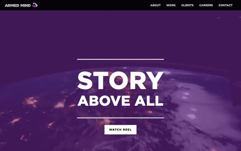 Screenshot of Home Page makebelieve.com - Armed Mind — Make Believe | Made Believable - captured July 14, 2018