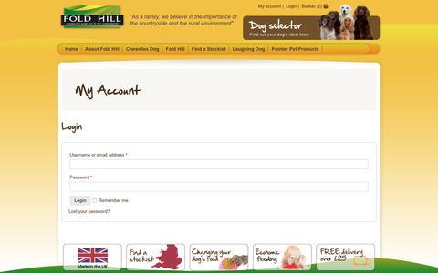 Screenshot of Login Page foldhill.co.uk - My Account     Fold Hill - captured Oct. 14, 2017