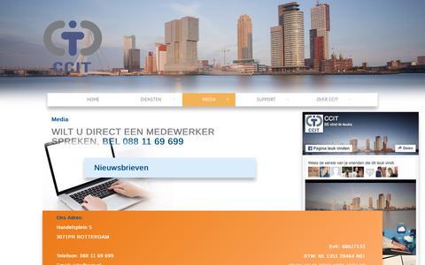 Screenshot of Press Page ccit.nl - Media - CCIT - captured Sept. 1, 2017