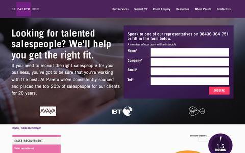 Sales Recruitment | Talented Salespeople | Pareto