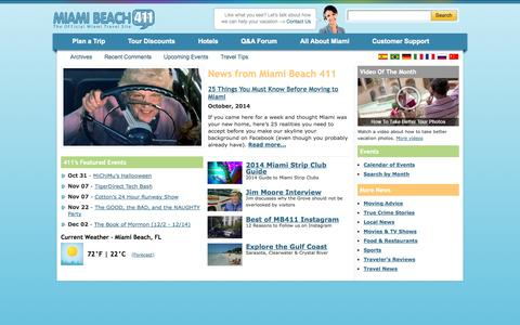 Screenshot of Press Page miamibeach411.com - Must Read News About Miami & Miami Beach, Florida - captured Oct. 27, 2014