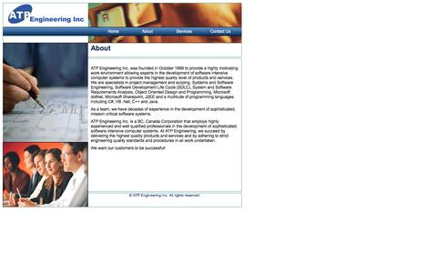 Screenshot of About Page atpeng.com - ATP Engineering Inc., About - captured Nov. 19, 2016