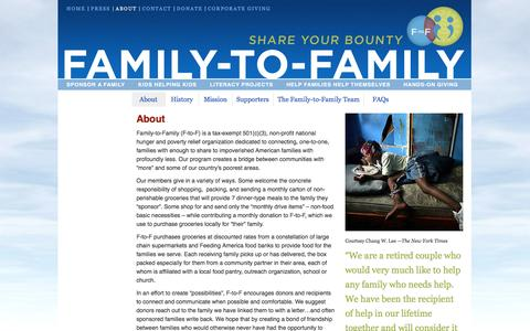 Screenshot of About Page family-to-family.org - About - Family-to-Family - captured June 19, 2016