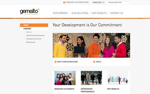 Screenshot of Jobs Page gemalto.com - Jobs at Gemalto - captured Nov. 23, 2017