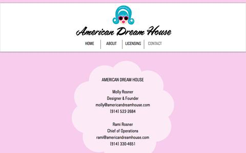 Screenshot of Contact Page americandreamhouse.com - Contact - captured July 30, 2018