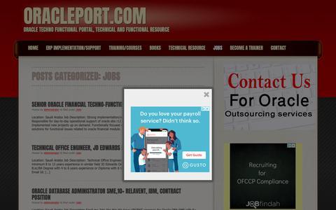 Screenshot of Jobs Page oracleport.com - OraclePort.com | Category | Jobs - captured Nov. 19, 2018