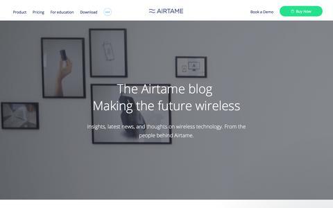 Screenshot of Blog airtame.com - Airtame says… - captured Dec. 26, 2017
