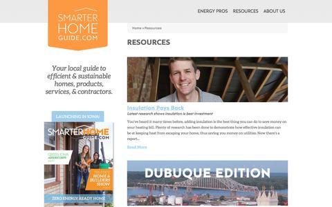 Screenshot of Blog smarterhomeguide.com - Resources | Smarter Home Guide - captured Oct. 22, 2017