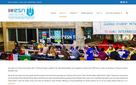 Screenshot of About Page iesntilburg.nl - About - I*ESN Tilburg - captured May 25, 2017