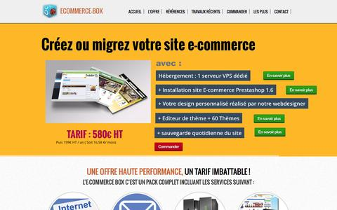 Screenshot of Home Page ecommerce-box.com - Ecommerce-BOX - captured Sept. 23, 2014