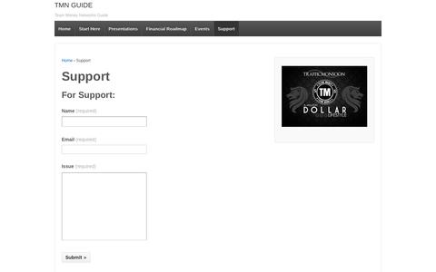 Screenshot of Support Page mglobaltek.com - Support | TMN GUIDE - captured Nov. 29, 2016