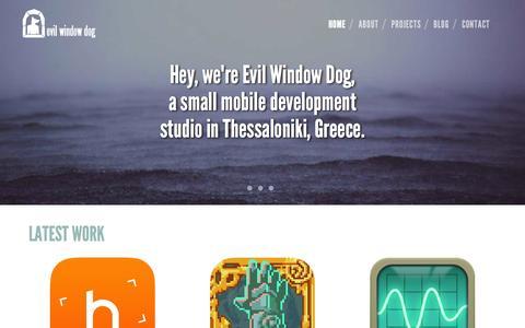 Screenshot of Home Page evilwindowdog.com - Evil Window Dog - captured Sept. 30, 2014