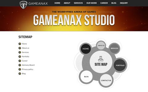 Screenshot of Site Map Page gameanax.com - Sitemap - - captured July 16, 2018