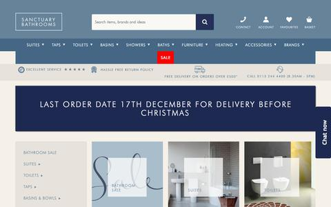 Screenshot of Products Page sanctuary-bathrooms.co.uk - Bathroom Products | Sanctuary Bathrooms - captured Dec. 17, 2018