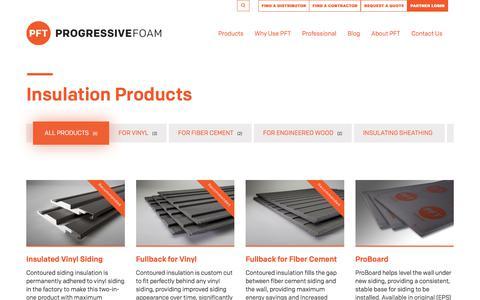 Screenshot of Products Page progressivefoam.com - Products Archive | Progressive Foam Technologies - captured Sept. 9, 2017