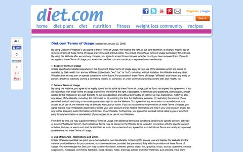 Screenshot of Terms Page diet.com - Terms of Use - captured Nov. 2, 2014