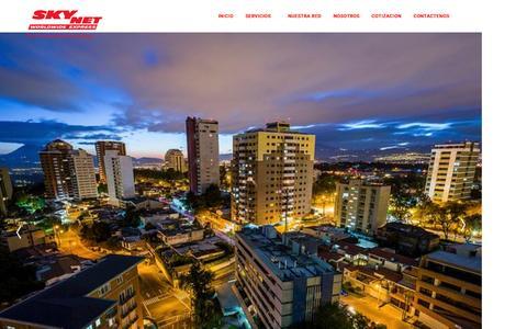 Screenshot of Home Page skynetguatemala.com - Skynetguatemala - INICIO - captured Feb. 22, 2016