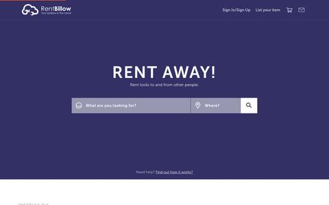 Screenshot of Home Page rentbillow.com - RentBillow.com | Don't Buy. Just RENT AWAY! - captured Jan. 7, 2016