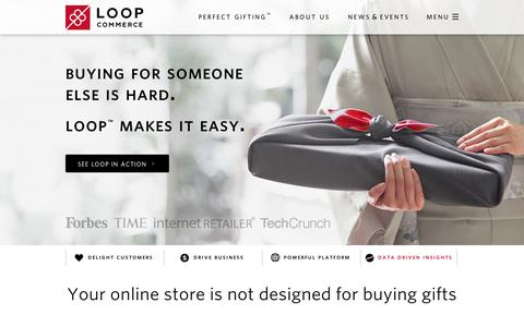 Screenshot of Home Page loopcommerce.com - Loop Commerce - Perfect Gifting - captured Sept. 10, 2014