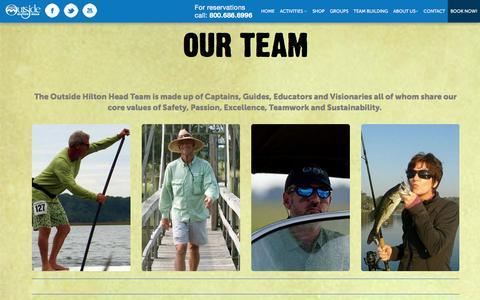 Screenshot of About Page Team Page outsidehiltonhead.com - Meet Our Outside Hilton Head Team Whose Passion is Your Adventure - captured Feb. 26, 2016