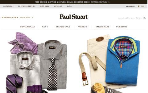 Screenshot of Home Page paulstuart.com - Paul Stuart - Fine Men's & Women's clothing - captured Feb. 16, 2016