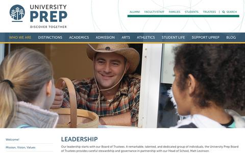 Screenshot of Team Page universityprep.org - Leadership - University Prep - captured Sept. 20, 2018