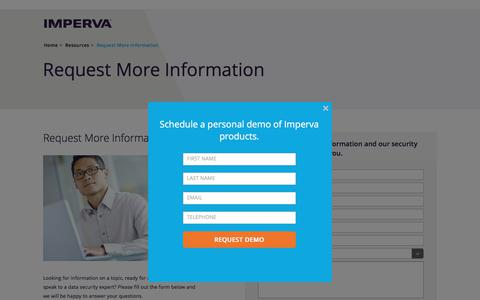 Request More Information | Imperva, Inc.