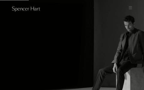 Screenshot of Home Page spencerhart.com - Spencer Hart - The Wardrobe - captured June 22, 2019