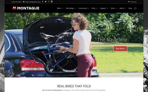 Screenshot of Home Page montaguebikes.com - Montague Bikes | Folding Bikes - captured Oct. 19, 2017