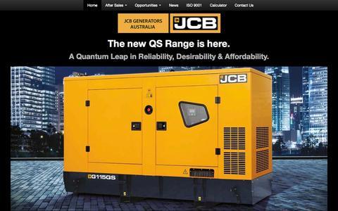 Screenshot of Home Page jcbgenerators.com.au - Generator Sales   JCB Generators   Diesel Generators   JCB Generators Australia - captured Oct. 3, 2014