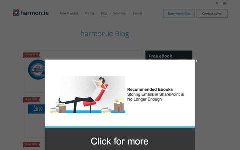 Screenshot of Blog harmon.ie - harmon.ie Blog   harmon.ie - captured May 22, 2018