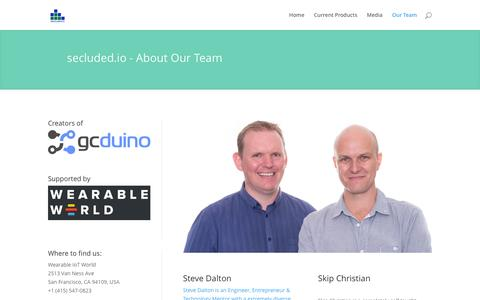 Screenshot of Team Page secluded.io - Our Team - secluded.io - captured Feb. 13, 2016