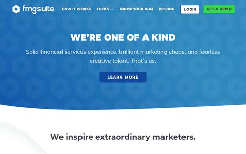 Screenshot of About Page fmgsuite.com - Learn About Our Financial Advisor Marketing Team - captured Feb. 17, 2019