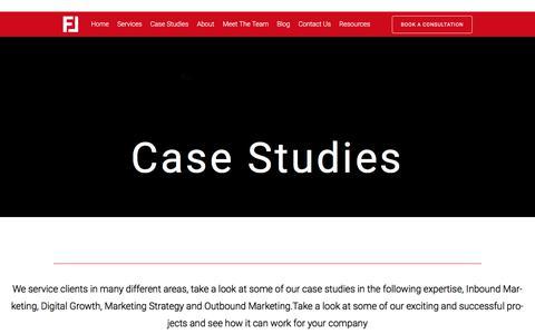 Screenshot of Case Studies Page floodlightnewmarketing.co.uk - Case Studies - Floodlight New Marketing - captured June 6, 2017