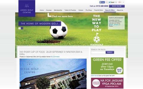 Screenshot of Blog leedsgolfcentre.com - Leeds Golf Centre | Golf Course, Driving Range, Lessons And Shop Leeds Golf Centre - captured Sept. 29, 2014