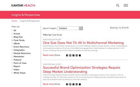 Insights and Perspectives | Kantar Health