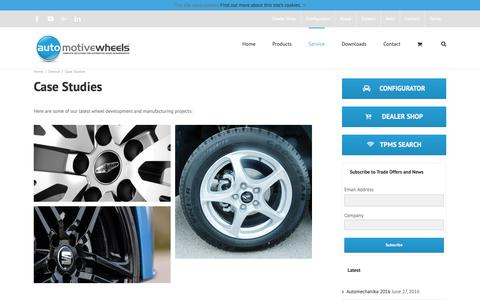 Screenshot of Case Studies Page automotivewheels.co.uk - Case Studies – Automotive Wheels Ltd – Wholesale Alloy Wheels, Wholesale Steel Wheels and Accessories UK. - captured Oct. 4, 2018