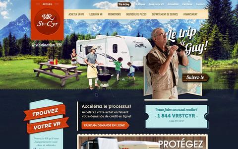 Screenshot of Home Page vrstcyr.com - Véhicules récréatifs   VR   VR St-Cyr   VR St-Cyr - captured Oct. 16, 2015